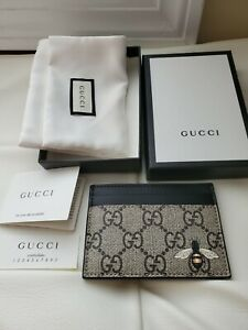 Gucci Bee print GG  Card Holder case New!!