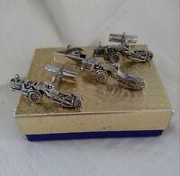 VTG 1950's MICHIGAN LOADER Cufflinks & Tie Clasp MERCURY ITALY For CLARK EQUIP C