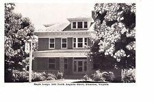 Staunton, VA  Maple Lodge Tourist Home  @ 1940