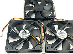 3 x GDSTIME Computer Case fan Large 12V 3Pin 120mm 25mm gda blower 1225 G19