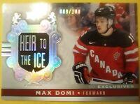 2017 18 Upper Deck Team Canada Max Domi /100 Exclusives Montreal Canadiens