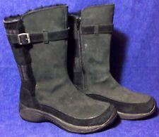 Black Suede Leather MERRELL Encore Boots Sz 6 Winter Snow Fur