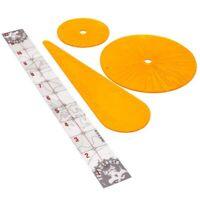 -- BLAST & FLAMER TEMPLATES -- necromunda orange flame disc ruler warhammer 40k