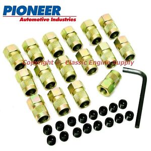 """Rocker Arm Poly Lock Nut Set For 3/8"""" Studs Fits Some Small Block Chevy & Ford"""