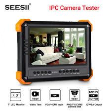 "7"" 5MP IPC CCTV Camera Tester TVI CVI AHD CVBS Security Analog Test ONVIF 1080P"