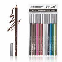 12PCS Waterproof Lipstick Lip Liner Long Lasting Matte Lipliner Pencil Pen Set