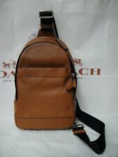 NWT COACH MENS F71751 LEATHER SHOULDER CROSSBODY BAG BACKPACK