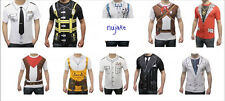 Adults Unisex Fancy Dress Instant Party Costume Set T-shirts Tops Student Stag