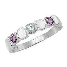 Anillos de joyería con gemas anillo con piedra de plata de ley