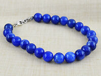 246.50 CTS EARTH MINED BLUE SAPPHIRE ROUND SHAPE BEADS HAND MADE BRACELET (RS)