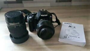 Pentax K-X 12.4MP DSLR Camera with 18-55mm & 50 - 200 lens Shutter Count 7213
