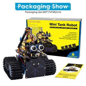 KEYESTUDIO Elektronik Tank Roboter Spielzeug Bausatz Starter Kit Set für Arduino