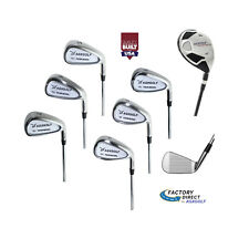 "Tall Mens (+1.5"") Senior Flex Tour Cavity Edition Iron Set 5-SW + w4 Hybrid Iron"
