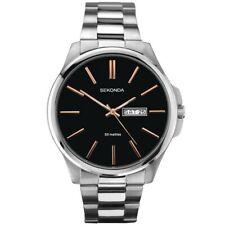 Sekonda Gents Watch Day/date S/steel Rose Black Dial 1097 RRP £44.99