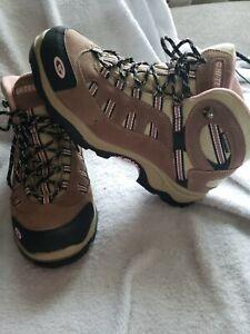 Hi-Tec Women's Waterproof Hiking Boots H200149 Brown & Pink Size 10