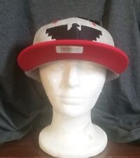 Huelga Bird Snapback Hat Feather Grey Red Bill Over and Under (Limited)