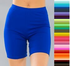Bike Shorts Longer Length Mid Thigh Spandex Stretch S M L 10 Colors *USA Seller*