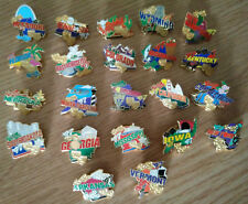 22pc Lot Vintage 1997 Qvc 50 in 50 State Tour Collector Hat Pinback Lapel Pins