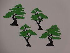 """4 bonsai trees 2 1/4"""" tall Greeting card die cuts  die cut"""