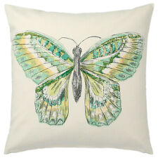 2 x IKEA ROTFJARIL Cushion Covers Butterfly Design Natural/multicolour 50x50 cm