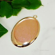 40x30 Oval Rose Gold Plated Cabochon (Cab) Drop Setting (#B5-29)