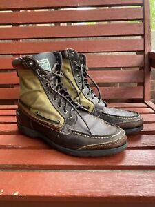 Filson Sebago Boot - 10 - Leather, Tin Cloth, Vibram Sole