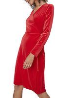 £25 New TU Wrap Velvet Midi Christmas Party Evening Dress Plus Size 16 18 20 22