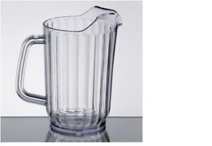 32 oz. Clear Poly Beverage Pitcher Water-Beer-Iced Tea- Cold Beverage