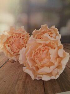 3 Medium Peony Sugar Cake Decoration Wedding/Celebration Cake Topper