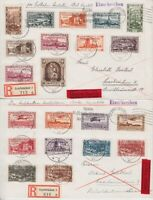 Saar Region 178 - 198 2 Great Collector Express R- Letters 1935, Tested Hofmann