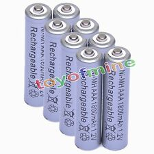 8x AAA 1800mAh 1.2V Ni-MH Rechargeable battery 3A Grey Cell for MP3 RC Toys