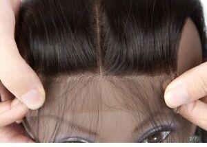 Brazilian Hair Straight T Part Lace Closure 4x1 HD Human Hair 18 inch