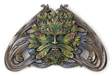 """New Green Man Art Nouveau Vine Wall Plaque Home Decor 9.5""""  L"""