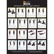 Body Sport Total Body Exercise Resistance TUBE Workout Poster BDSRTW New