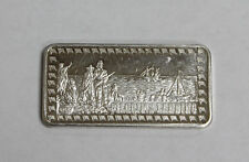 Pilgrims Landing - The Hamilton Mint 1 oz. .999 Fine Silver Art Bar