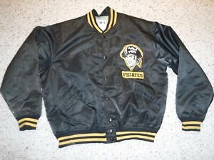 PITTSBURGH PIRATES VINTAGE BENCH JACKET FELCO USA MADE NOTE GAME USED CONDITION