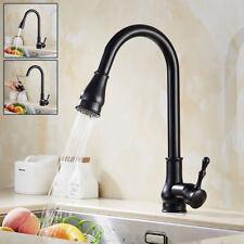 Kitchen Modern Sink Faucet Pull Out Spray Tap Mixer Mono Swivel Spout Brass TAPS