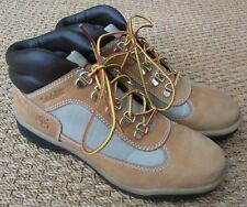 Timberland Ladies Leather & Fabric Field Boot Mid Wheat Size 8.5 #A162Y EUC