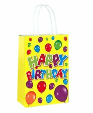 6 Happy Birthday Bags With Handles - Luxury Party Treat Sweet Loot Lunch Gift