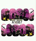 Halloween Nail Wraps water decals Zombie nail art haunted house nail art