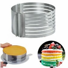 """6.30""""~7.87"""" Stainless Steel Layer Cake Slicer Mold Round Adjustable Baking Tool"""