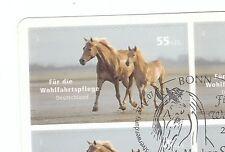 Bund 2007 Wohlfahrt 2635 gestempelt aus MH 69 Pferde