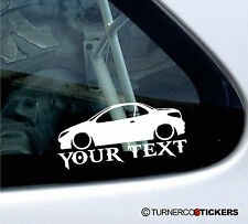 Custom Text / Name  ,LOW  Peugeot 206 cc, convertible ,sticker, Decal