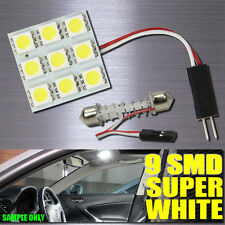 6000K Xenon White SMD 9-LED Panels Lights Interior Map Dome 3X Adapters