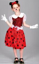 Childs Kids Minnie Mouse Style Fancy Dress Costume 5-7 Years P6377