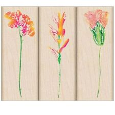 "HERO ARTS ""WILDFLOWERS IN BLOOM""  RUBBER STAMP SET"