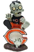 Chicago Bears - Sitting on Logo Zombie - Decorative Garden Gnome NEW