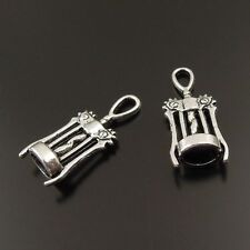 38060 Antiqued Silver Vintage Alloy Delicate corkscrew Pendant Charms 50PCs