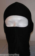 BLACK BALACLAVA SKI MASK LINER - GREAT UNDER MOTORCYCLE BIKE BICYCLE ATV HELMET