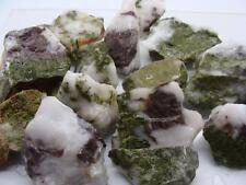 Epidote and Axinite in Quartz Crystals Bulk Wholesale Mineral Specimens 1/4 lb.